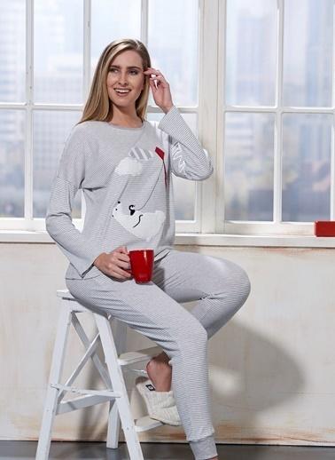 Sevim Pijama Takım Gri